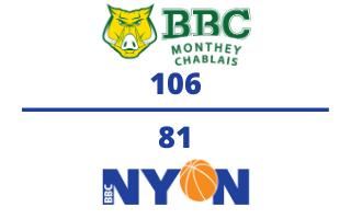 BBC Monthey-Chablais VS. BBC Nyon – 18.11.2020
