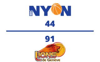 BBC Nyon VS. Lions de Genève – 21.11.2020