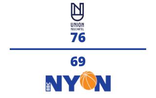 Union Neuchâtel Basket VS. BBC Nyon – 02.12.2020