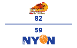 Lions de Genève VS. BBC Nyon – 30.03.21